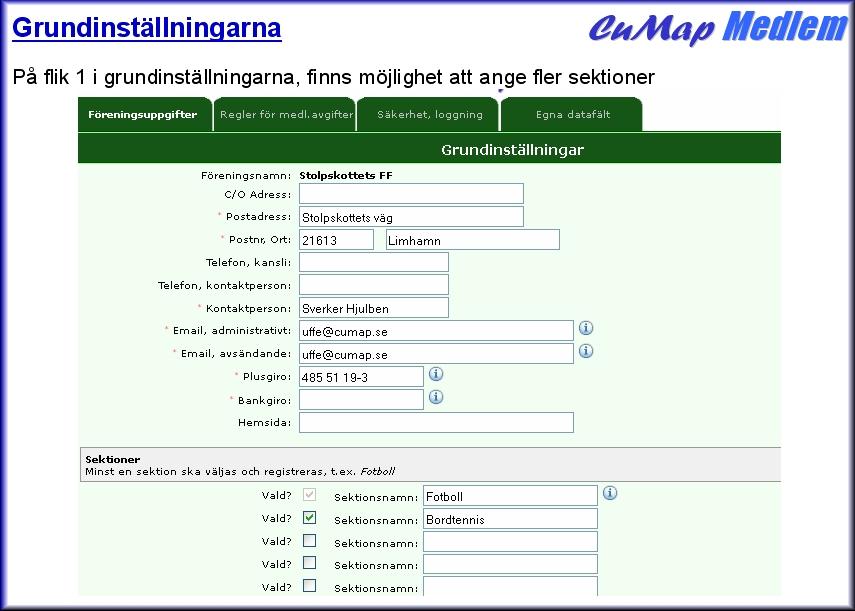 gratis medlemsregister online